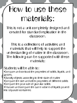 Matter: Solids, Liquids, and Gasses for 2nd grade