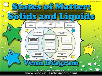 Matter: Solids and Liquids - States of Matter Venn Diagram Compare and Contrast
