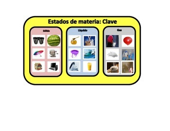 Matter Spanish FIle Folder Game