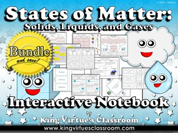 Matter: Interactive Notebook BUNDLE - States of Matter - Solids, Liquids, Gases