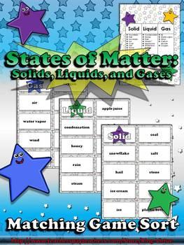 Matter: States of Matter - Solids, Liquids, and Gases Matc