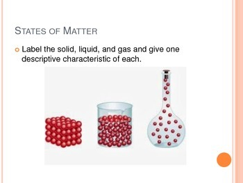 Matter - States of Matter and Phases of Matter Notes for Interactive Notebook
