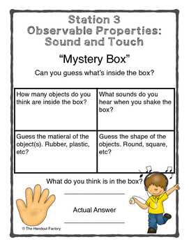 Matter: Stations for Observable and Measurable Properties