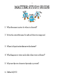 Matter Study Guide!