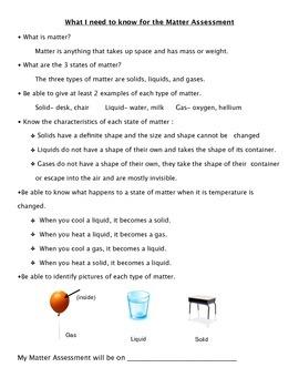 Matter- Study Guide