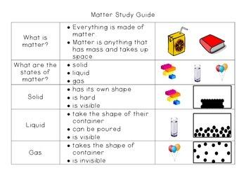 Matter Study Guide