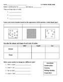 Matter Science Study Guide