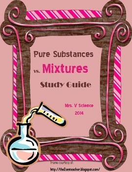 Matter Study Guide: Elements, Compounds and Mixtures (PDF)