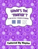 Phases of Matter Study Guide & Test Combo