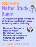 Matter Study Guide for Upper Elementary - Atoms, Elements, Compounds, and more