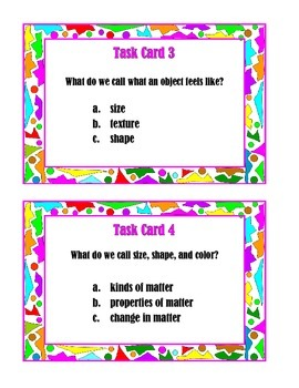 """Matter""  Task Cards"