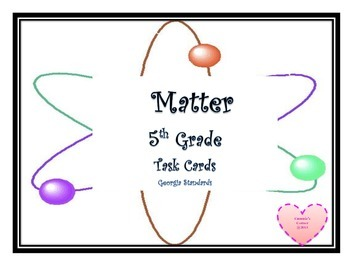 Matter Task Cards 5th Grade Science