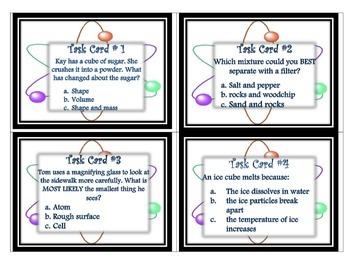 Matter Task Cards 5th Grade Science