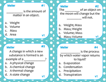 Matter Task Cards (Differentiated)