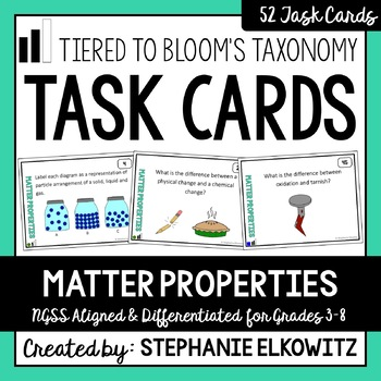 Matter Properties Task Cards (Differentiated and Tiered)