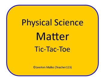 Matter Tic-Tac-Toe