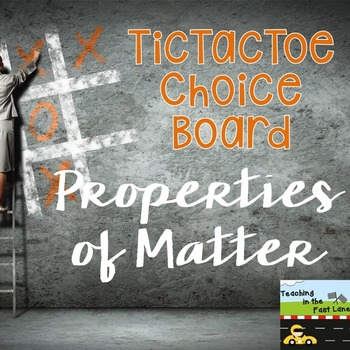 Matter TicTacToe Choice Board Extension Activities