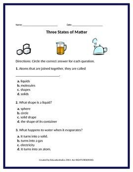 States of Matter Unit Kids Love!