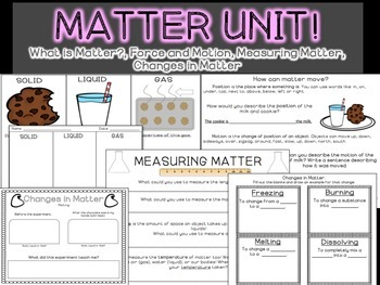 Matter Unit: Solids, Liquids and Gas {FULL UNIT}
