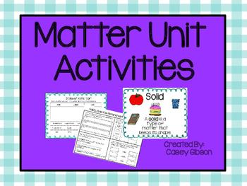 Matter Unit Activties