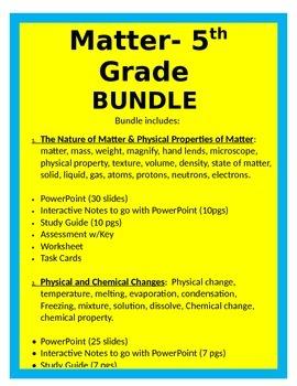Matter Unit BUNDLE - 5th Science