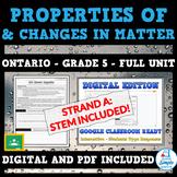 Understanding Matter and Energy: Ontario Science Grade 5 Unit