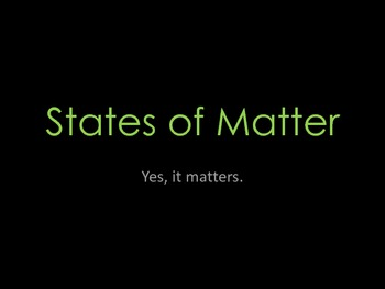 Matter Unit Introduction