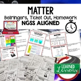 MATTER Warm Ups & Bell Ringers, NGSS 6-8 Science, Print & Digital