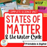 Matter Science Unit   Printable & Digital   Distance Learning