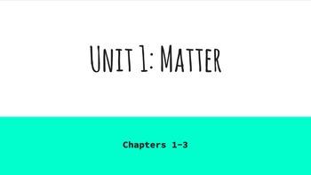 Matter Unit Notes