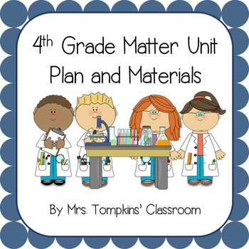 Matter Unit Plan for 4th Grade