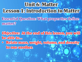 Matter Unit Powerpoint