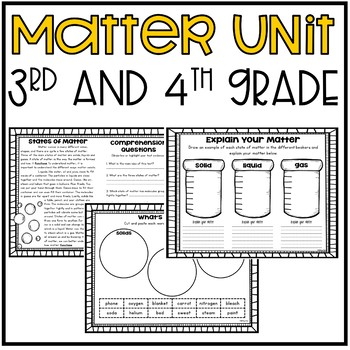 Matter Unit (Science-3rd and 4th Grade)