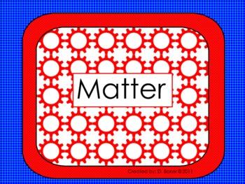 Matter Unit Smartboard Lesson