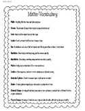 Matter Vocab List and Matching Activity 5.P.2.2 and 5.P.2.3