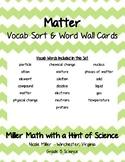 Matter Vocab