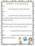 Matter Vocab Test