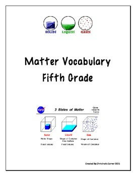 Matter Vocabulary
