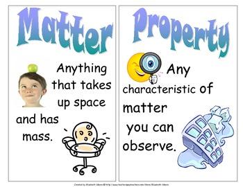 Matter Vocabulary Cards