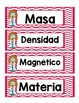 Spanish Matter Vocabulary Cards