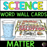 Matter Vocabulary Cards- with definitions