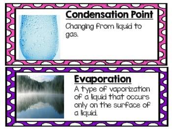Matter Vocabulary Cards 4.P.2.1