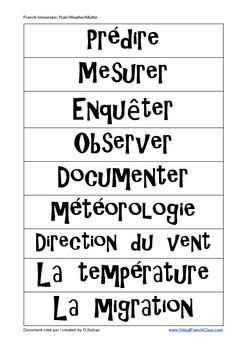Matter - Vocabulary Center FRENCH - La Matière - Centre de vocabulaire