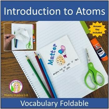 Matter Vocabulary Foldable