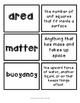 Matter Vocabulary Matching Game