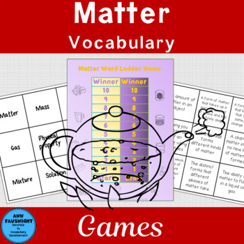 Matter Vocabulary Review Games