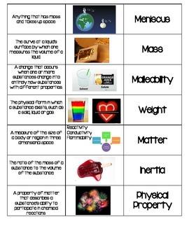 Matter Vocabulary Sort