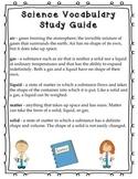 Matter Vocabulary study sheet