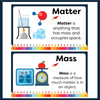 Matter Word Wall Cards