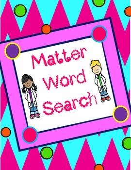 Matter Word Search *FREEBIE*